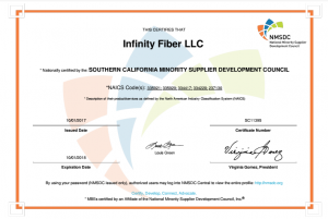 MBE Certified Company Infinity Fiber